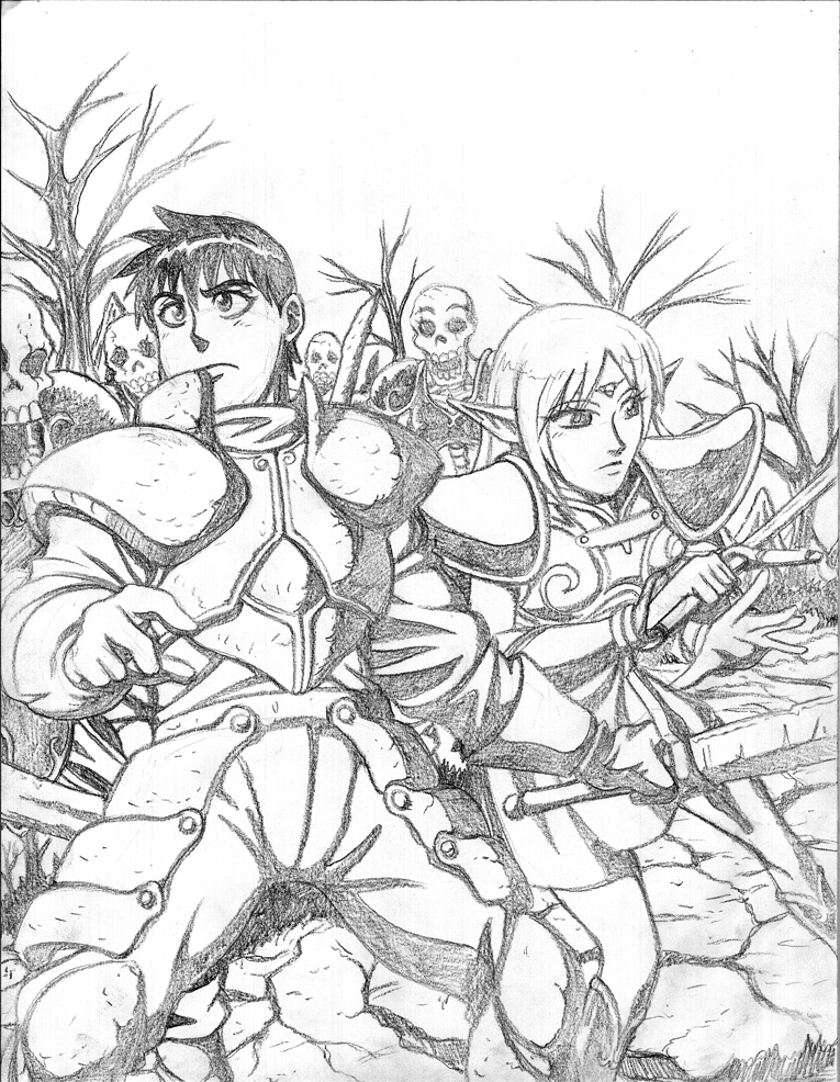 Lodoss War Pencils by jmatchead