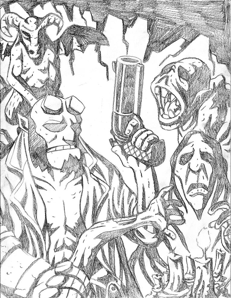 Hellboy Pencils by jmatchead