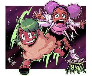 Star Buster Atom- Adam and Stella! by jmatchead
