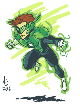 Green Lantern Redesign by jmatchead