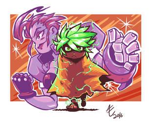 Star Buster Atom- Adam and Fox! by jmatchead