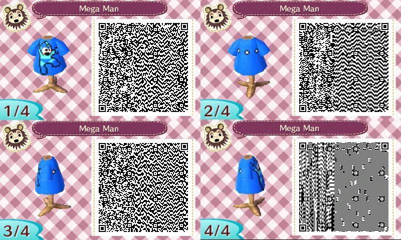 Animal Crossing New Leaf Mega Man Design Qr Code By Stiv64 On
