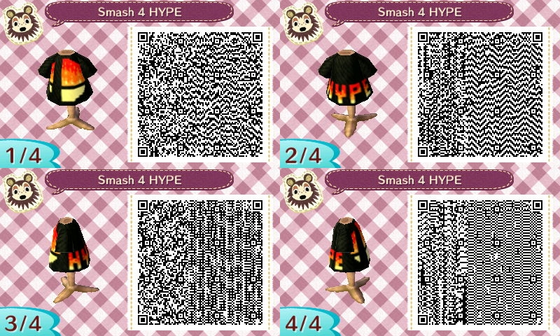 Animal crossing nl smash bros 4 design qr code by stiv64 on