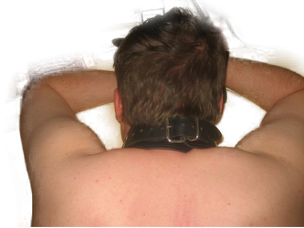 Neck from the back - moaning. by SneakerBoyBondage