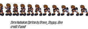 Sora Hadouken Sprites by BraveShyguy