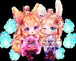 [c] Lily and Jennie [+speedpaint]