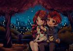 Natsumi Raimon and Endou Mamoru