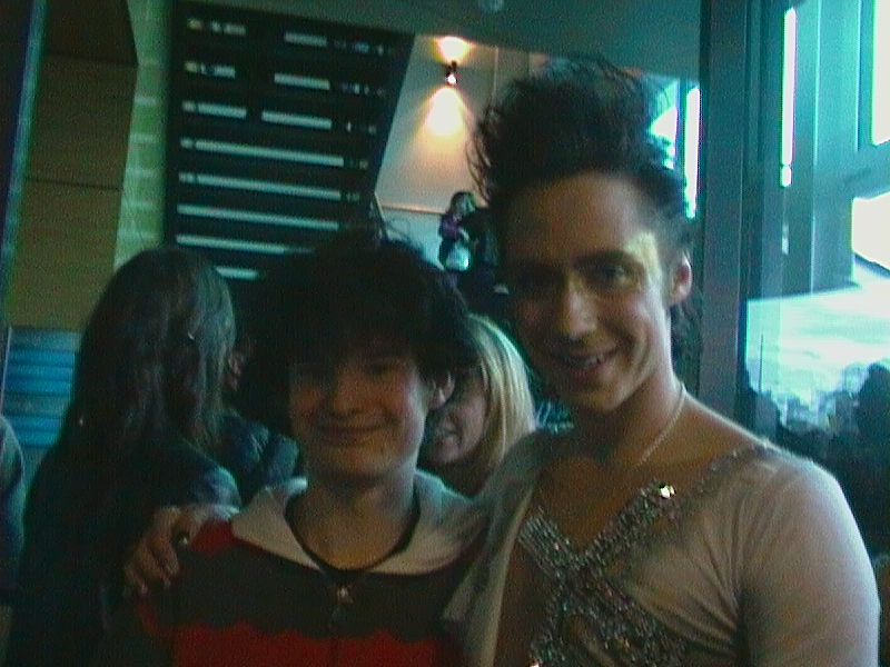 Me with Johnny Weir by Ty-the-Tasmanian-tig