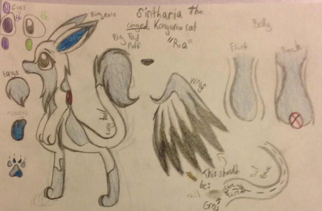 Sintharia fursuit concept + ref by Equinoxthealicorn
