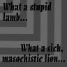 Sick, masochistic lion... by angelsins
