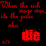 Its the poor who die... by angelsins