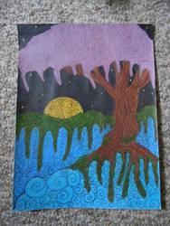 tree on a sea by Elizabeth-Cook