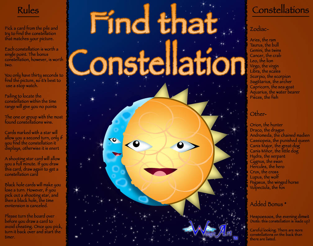 Find That Constellation game by ABwingz on DeviantArt