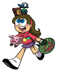 Minnie and Theo as Mabel and Dipper