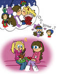 Minnie and Christine during the holidays by ABwingz