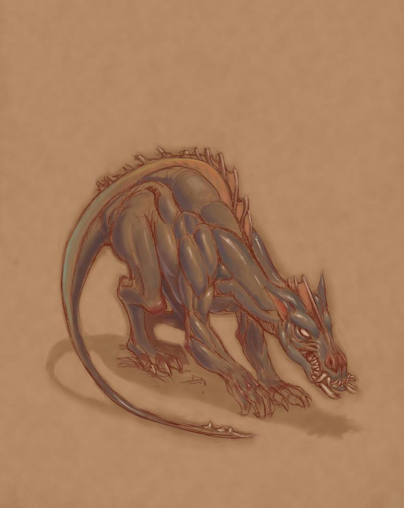 Dragon Sketch by toshi13go