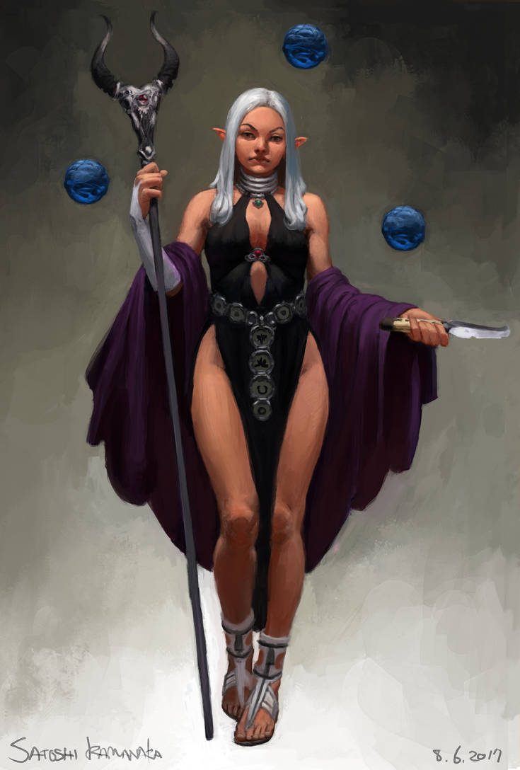 Elf - Sorceress by toshi13go