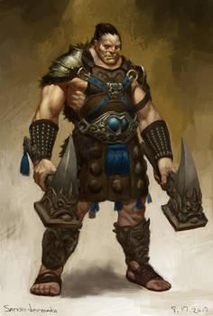 Half-orc warrior