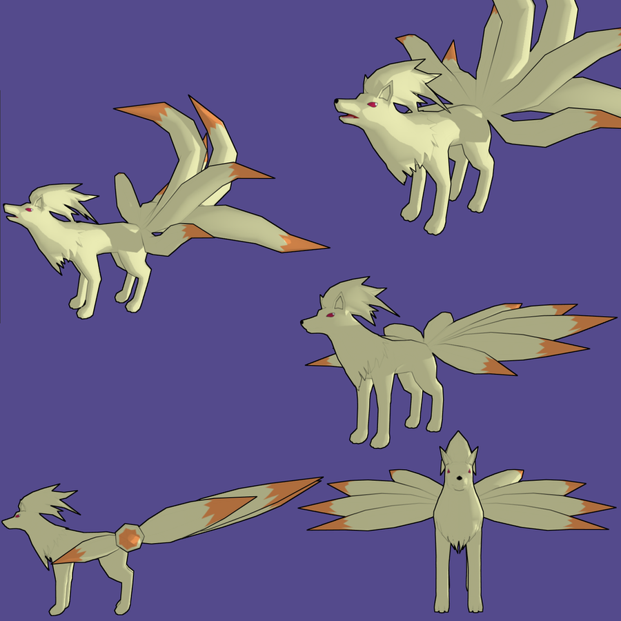 Ninetales 3d by PantheraNoctis
