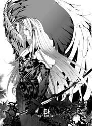 FF7: Sephiroth by elf-art