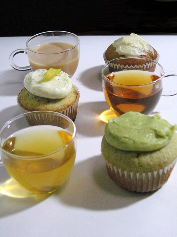 Three Tea Flavored Cupcakes by Cevangel