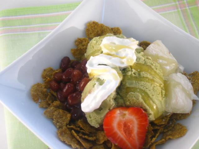 Green Tea Ice Cream Dessert by Cevangel