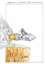 Inktober 2020 - 16 - Rocket
