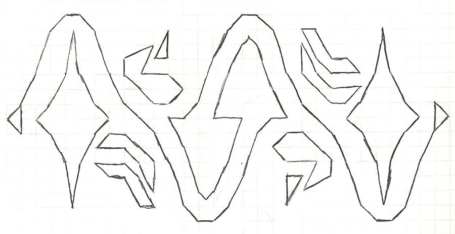 Graph paper art Nov 1st by estabane