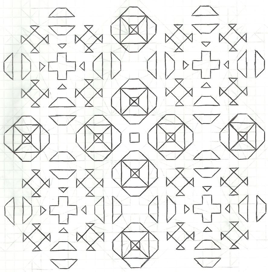 Graph paper art Nov 23rd #2 by estabane