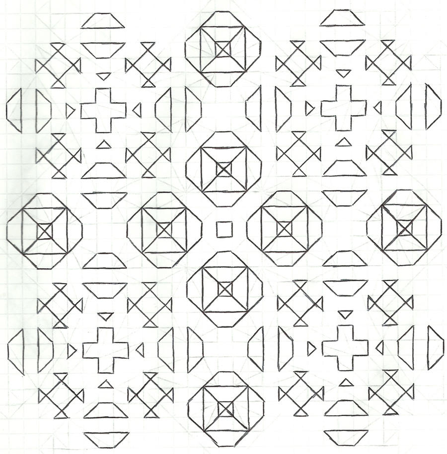 Graph paper art Nov 23rd #2 by estabane
