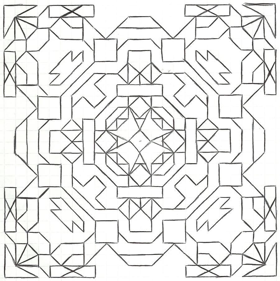 Graph paper art Nov 28th #2 by estabane