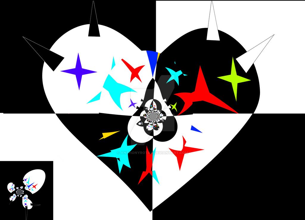 Heart Fractal by anthonyrotar