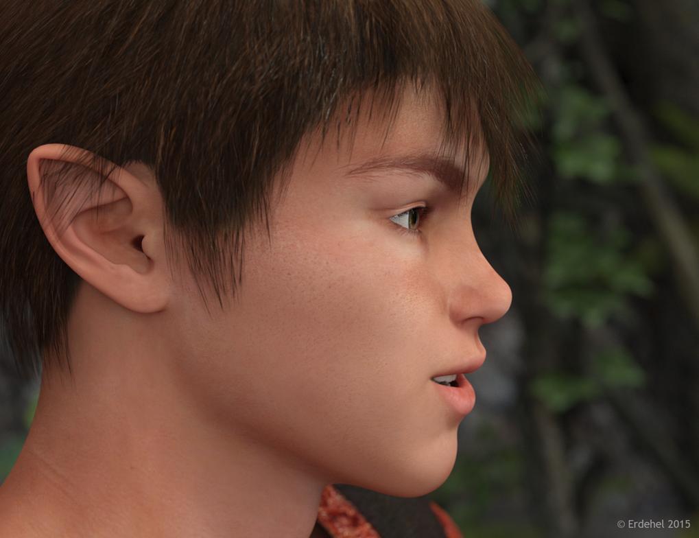 Faervel the young elf by Erdehel