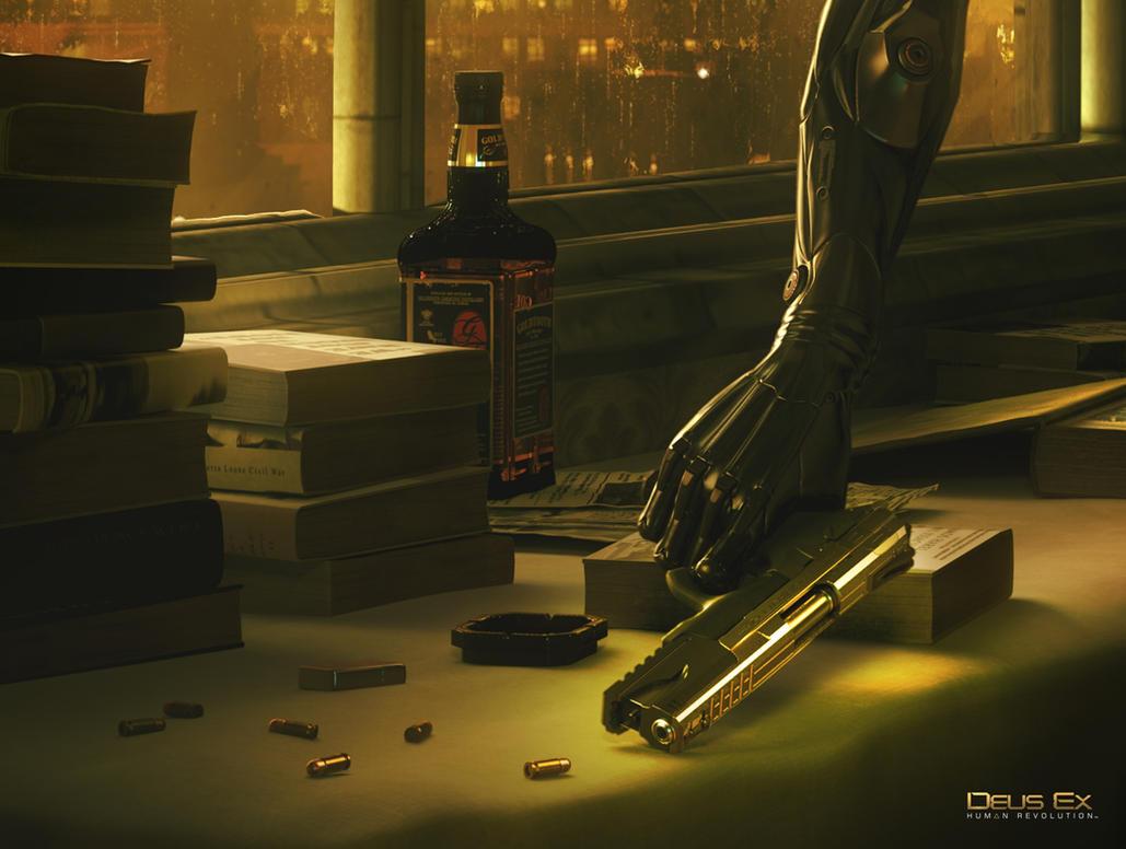 Deus Ex Wallpaper HD With Logo By Elizarars