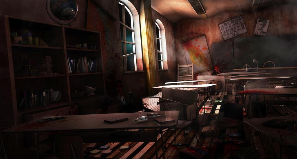 D Horror Living Room