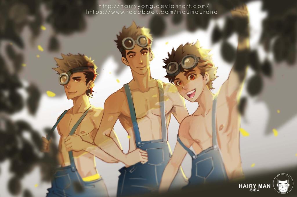 Minions, Stuart, Kevin and Bob by HarryYong