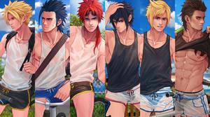 Final Fantasy XV and Final Fantasy VII
