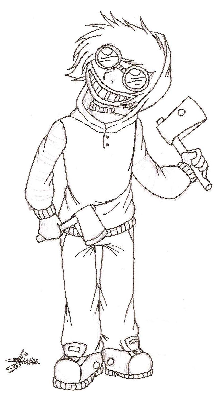 It is a graphic of Soft Creepypasta Coloring Pages