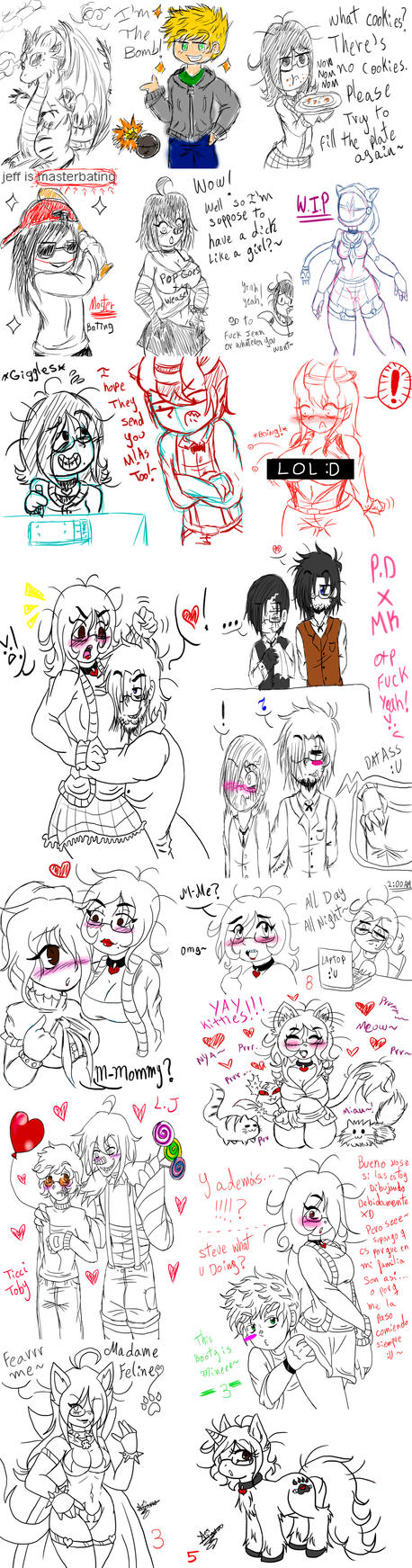 What I do on tumblr-A big amount of Doodles by SweetxAriannaxEngel