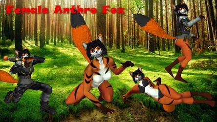 Female Anthro Fox (furry) XNALARA by XeNmAs-Lara
