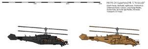 Mil Mi-24 Superhind Mk5 'Krokodil' Heavy Gunship by prokhorvlg