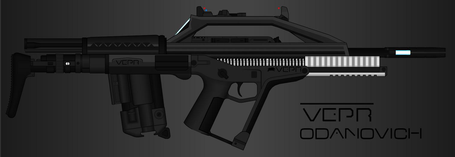 Vepr Industries - Bullpup Railgun Rifle Odanovich by prokhorvlg