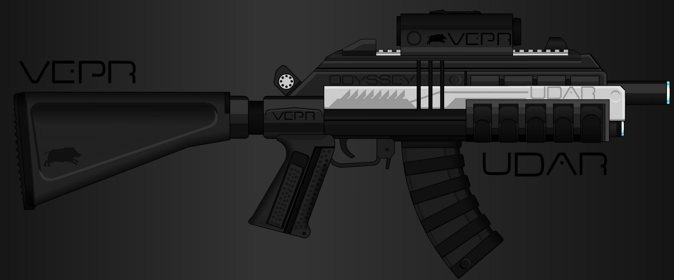 Vepr Industries - Railgun Assault Rifle 'Udar' by prokhorvlg