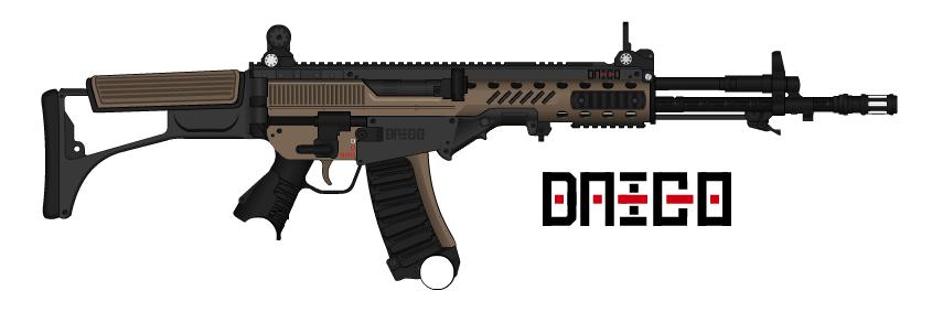Daico - KB-44 'Arexxoglata' Assault Rifle by prokhorvlg
