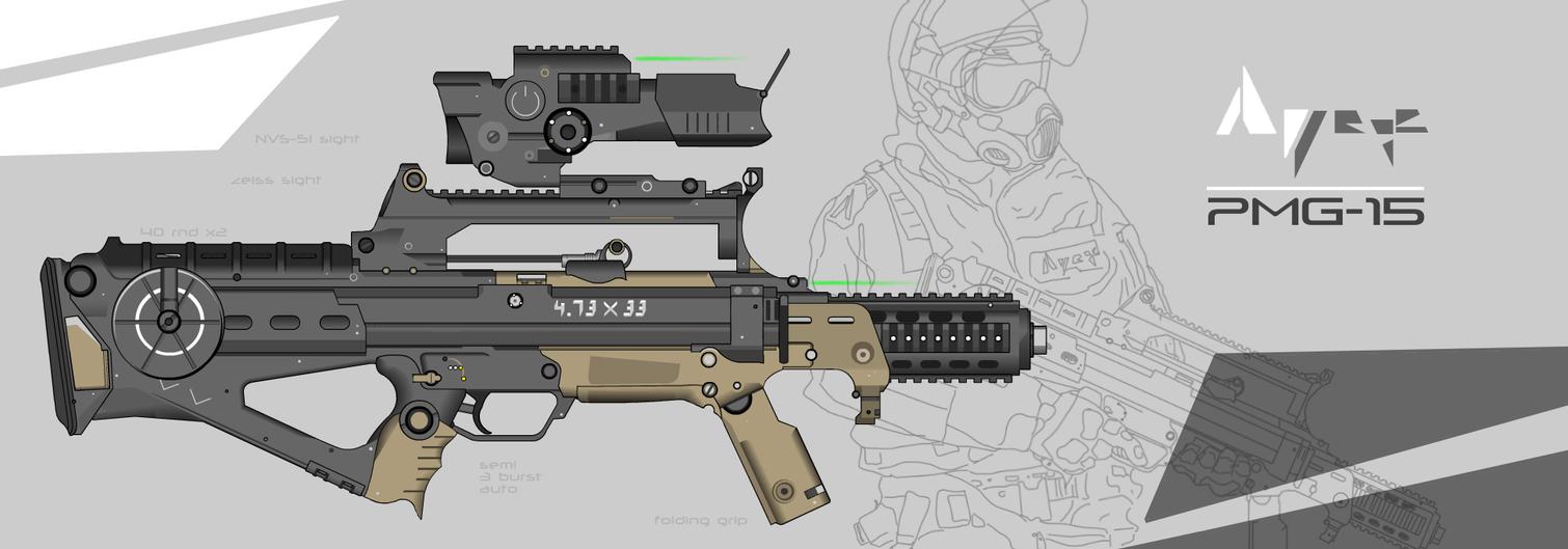 APEX Portable Machine Gun 15 (PMG-15) by prokhorvlg