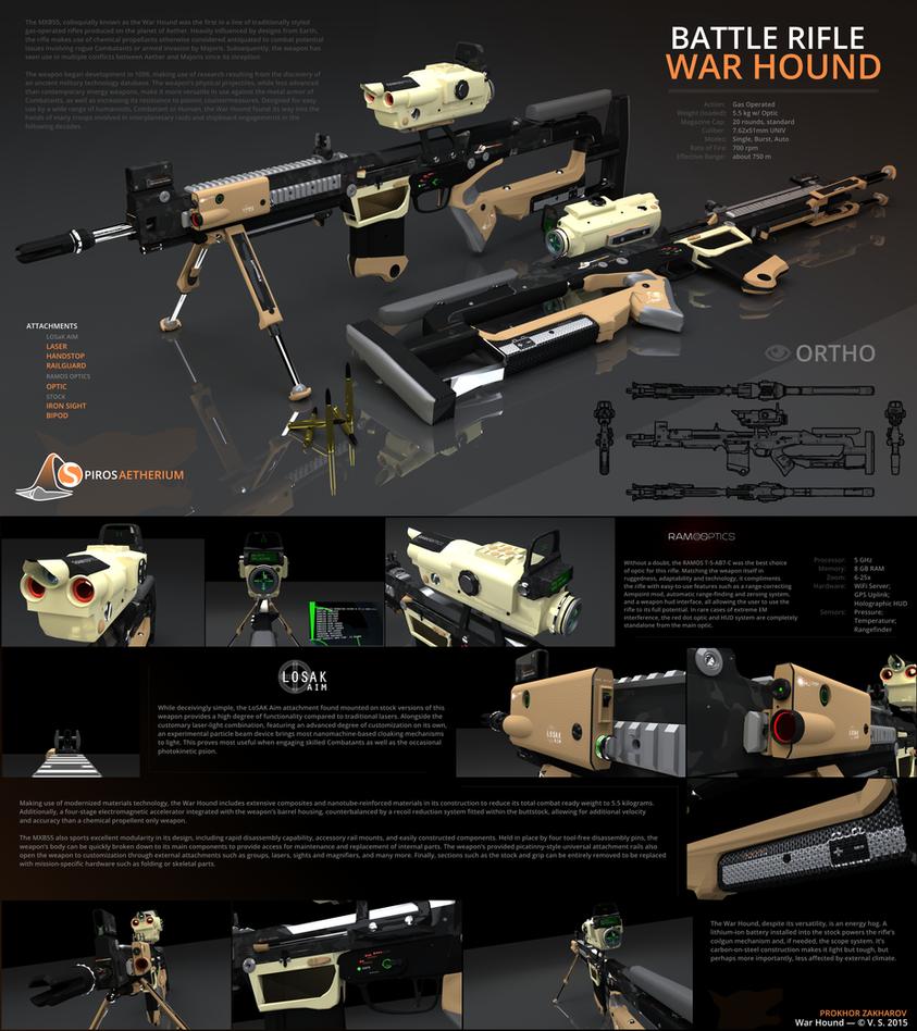 Spiros Aetherium // War Hound Battle Rifle by prokhorvlg