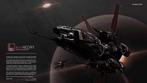 The BOS Nedry and its escort, the ALG Raven by prokhorvlg