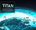 Map of Titan, the frigid moon of Saturn