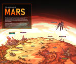 Map of Mars, the world of great sands