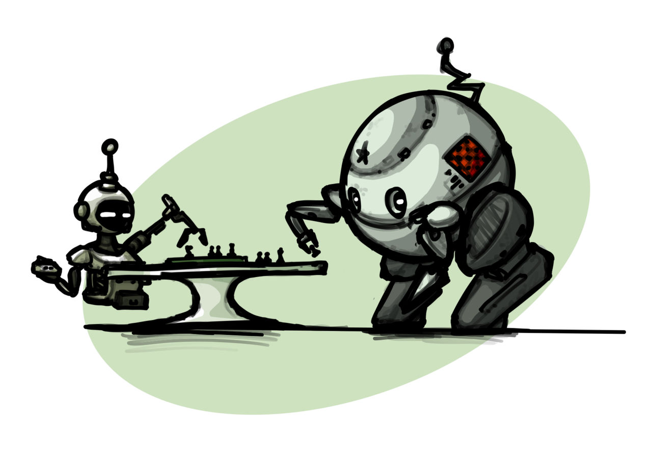 A chess game between robots